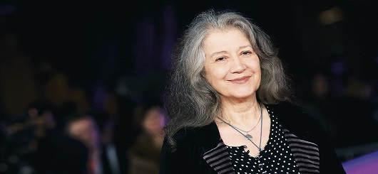 Solistin am Klavier Martha Argerich